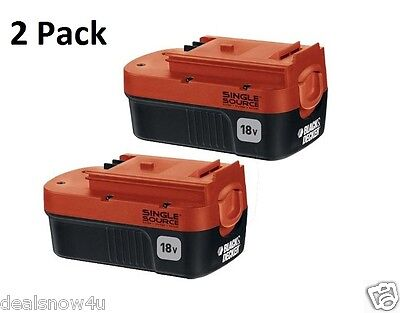 2 Of 18 Volt NiCd Batteries For Outdoor Power Tools For Home Yard Shop Easy Work