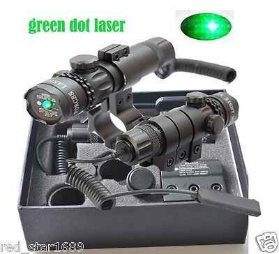 Powerful Tactical Green Dot Laser Sight Scope Rail Barrel Mount For Rifle Gun