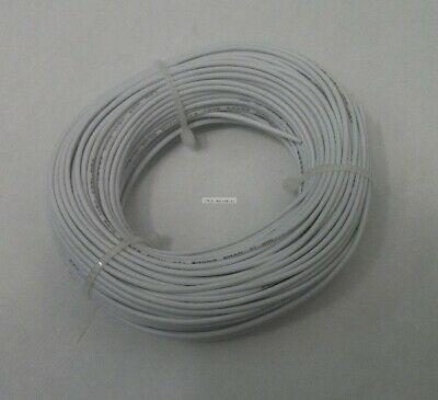 22 Awg Tinned Copper Stranded Hook Up Wire 100 Feet White Ul1007
