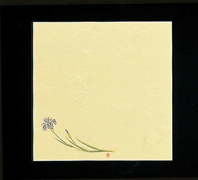 100 Sheets! Japanese Kaishi Paper: Decorative Table Mat: Iris 15 x 15 cm