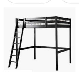 Ikea Wooden Double Loft Bed
