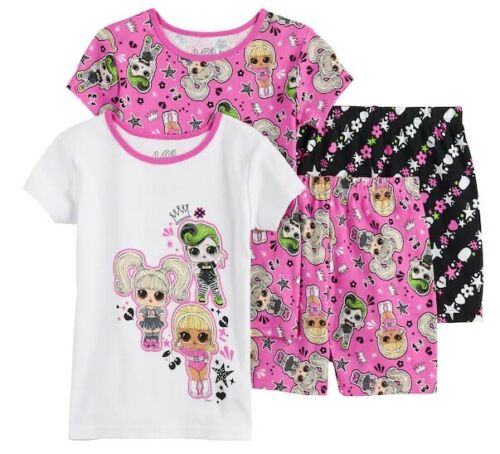 Girls Size 6  LOL Surprise 4-Piece Snug Fit Cotton Pajamas Pj Set NWT