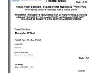 Alexander O'Neal Porthcawl pavilion - 5 tickets