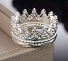 3 Ring set ~ Crown ~ New ~ Size 10