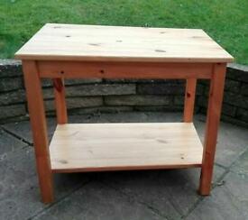 Useful pine IKEA table