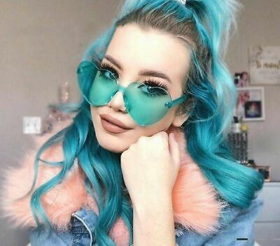 NEW Oversized Candy Color Heart Shaped Sunglasses Womens Clear Lens Fashion (Sunglasses Candy Color)