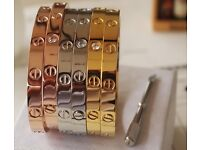 Cartier Love Bracelets In Various Colours & Sizes
