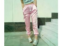 Striped pink trousers