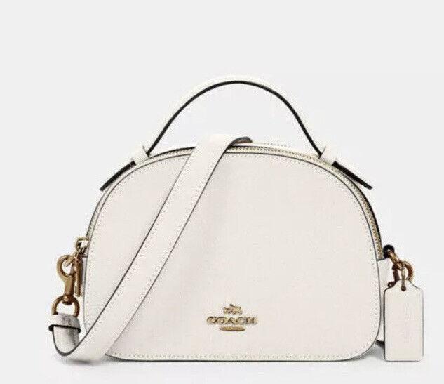 💙 Coach Serena Chalk Crossgrain Leather Crossbody Satchel Handbag Bag Purse NWT