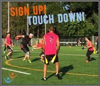 Play Co-ed, Recreational, Adult Flag Football with FCSSC!
