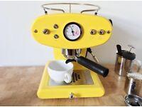 Francis Francis X1 retro yellow coffee machine