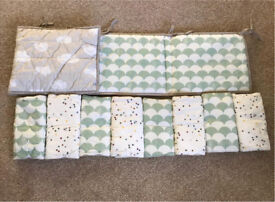 Mamas and papas cot bed bumper and bar bumpers