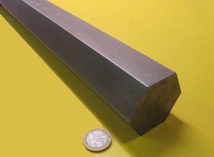 "1215 Carbon Steel Hex Rod 2"" Hex x 3 Foot Length"
