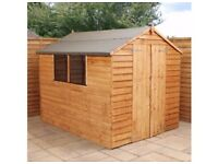 Sheds/other garden buildings in many styles and sizes, delivered, assemble with a base and treated