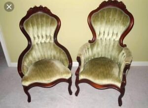 WANTED: His/Hers Victorian Parlour Chairs