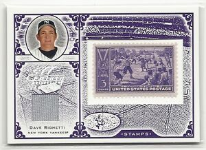 DAVE RIGHETTI 2005 Leaf Century Collection Purple 3 Cent Stamp Jersey # 6/39