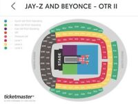 Front Row Jay-Z and Beyonce Tickets (Manchester) 13th June