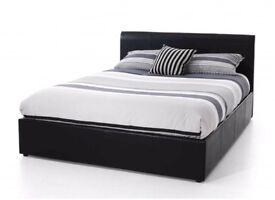 NEW* DOUBLE LEATHER BED + FREE 9 INCH MATTRESS + FREE QUILT £99