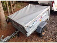 Trailer erde 102 with cover in very good condition