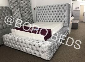 DESIGNER- HIGH QUALITY CRUSHED VELVET BEDS
