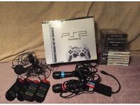 Boxed ps2 slim silver and extras