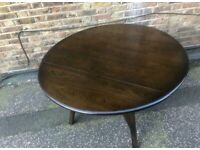 Ercol Drop Leaf Dining Table - Excellent Original Condition