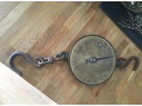 Vintage British hanging scale