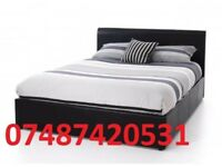 NEW MIAMI DOUBLE LEATHER BED + FREE MATTRESS