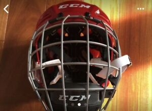 CCM Tacks 710 Red Senior Medium Hockey Helmet