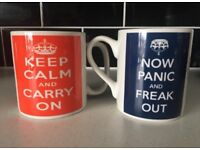 'Keep Calm' mug set