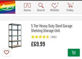 Brand New Solid Storage Shelving Unit - 5 Tier - 180x90x40cm (Racking Shelf,Garage,House,DIY,cheap)