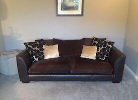 DFS dark brown 4 seater sofa excellent condition
