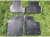 Genuine VW golf mk5 rubber floor mats