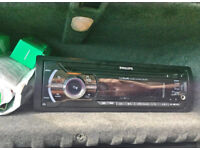 car stereo philips cd player aux usb