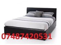 MIAMI DOUBLE LEATHER BED + FREE 9 INCH MATTRESS £99