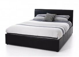 * SALE* DOUBLE LEATHER BED + FREE 9 INCH MATTRESS + FREE QUILT £99