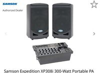 Samson XP308i 300 watt portable pa system