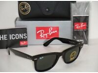 Genuine Ray Ban RB2140 Wayfarer 901 Black Medium 50mm NEW Paddington, Slough