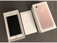 Apple Iphone 7 - 128GB -Rose gold- Unlocked- Immaculate