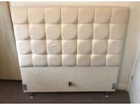 Cream double bed frame for sale.