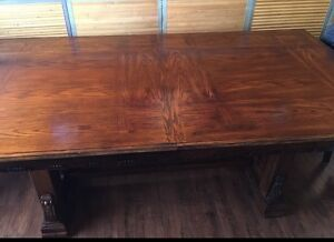 Custom Dining Room table and chairs