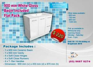 Free Standing and Flat Pack 900 mm Vanity Cabinet Braybrook Maribyrnong Area Preview
