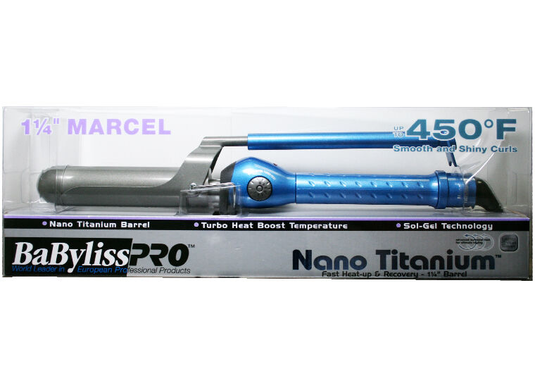 BaBylissPRO Nano Titanium Marcel Curling Iron, 1.25 Inch