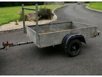 Galvanized 6x4 car trailer