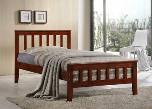 Twin, or Single, Platform Bed. Solid Wood. by Bunk Beds Canada.