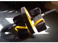 Ab Abs Roller Wheel with Foot Straps & Resistance Band