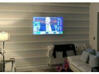 TV WALL MOUNTING COMPANY. TV INSTALLER, TV ON THE WALL. NORTH LANARKSHIRE. FULLY INSURED