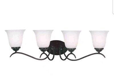 Vanity Light Home 4-Light Oil-Rubbed Bronze Standard Bathroom Wall Decor Lamps