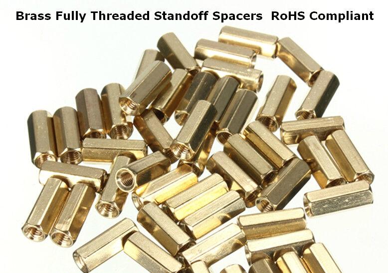 30pcs M3 30 6mm Male Female Thread Brass Hexagonal Spacer Screws PCB Abutment