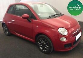 £116.60 PER MONTH AWESOME RED 2015 FIAT 500 S 1.2 3 DOOR PETROL MANUAL